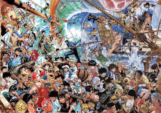 Un poster mixant les personnages de divers univers.