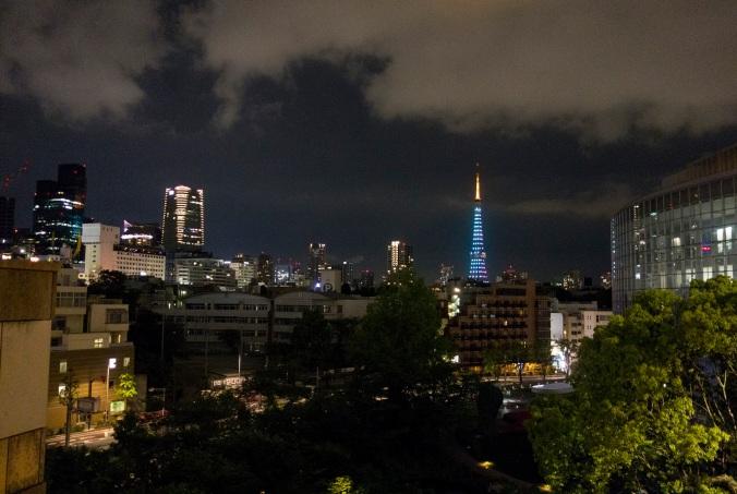 Panorama de la ville, Tokyo Tower, depuis Roppongi Hills