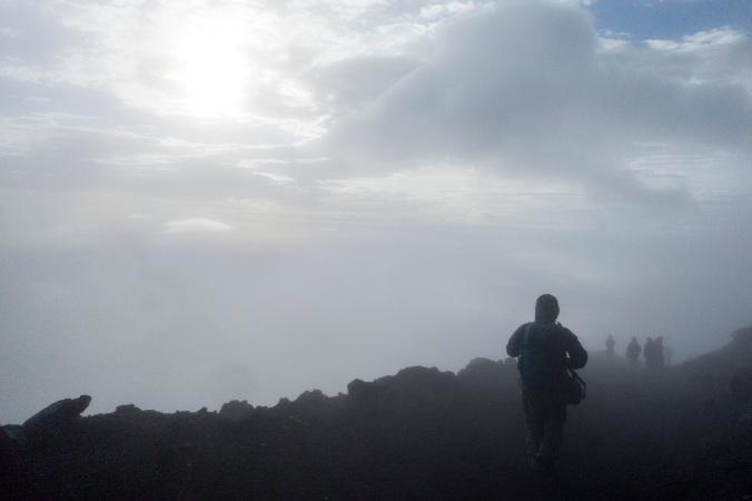Impression d'être des explorateurs dans le brouillard...
